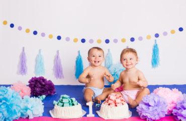 smash cake servizio fotografico primo compleanno
