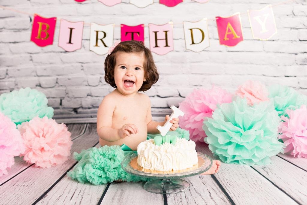 foto compleanno smash cake giulia