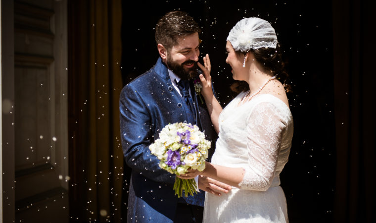 foto spontanee di matrimonio