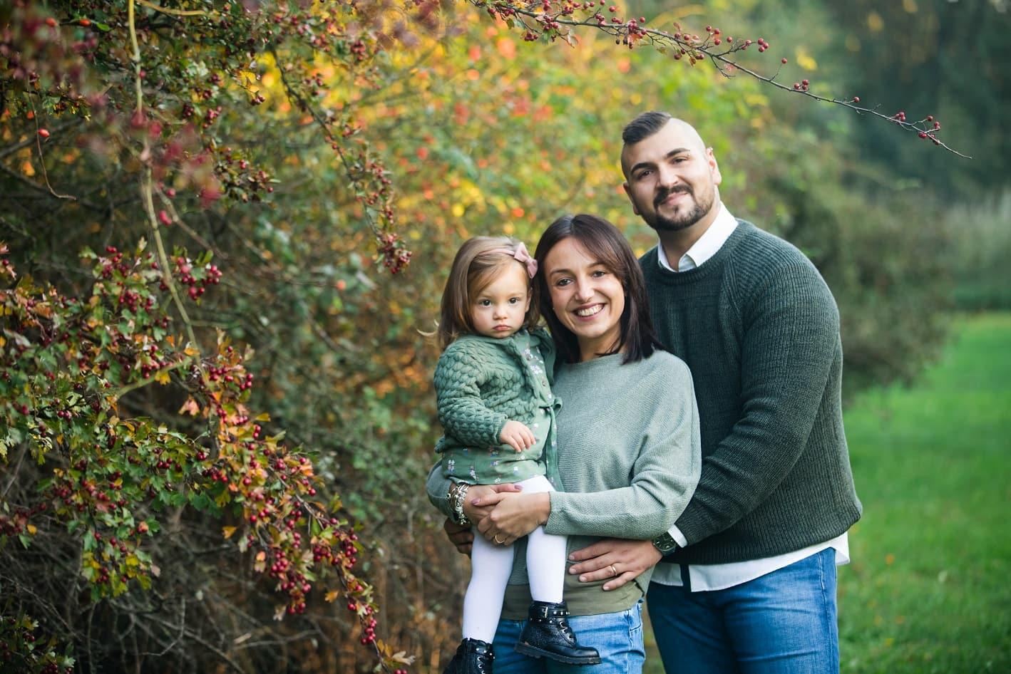 Foto autunno mini sessioni famiglia