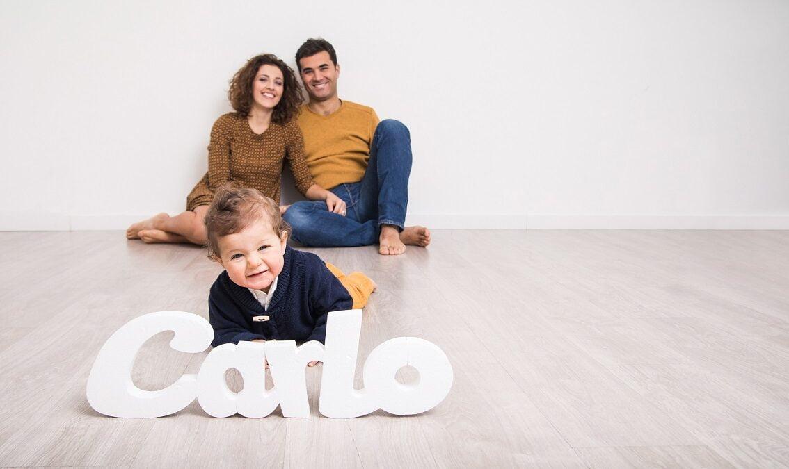 foto di famiglia in studio coronavirus
