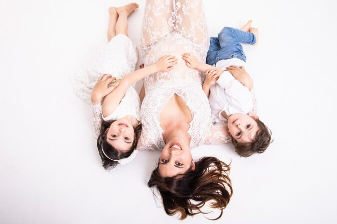 Marina e Fabio foto gravidanza famiglia