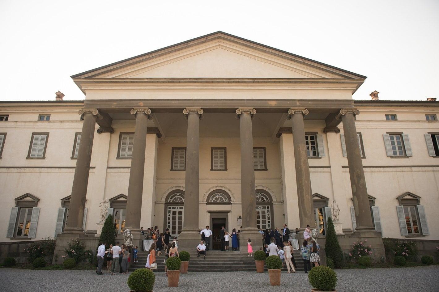 facciata villa caroli zanchi bergamo