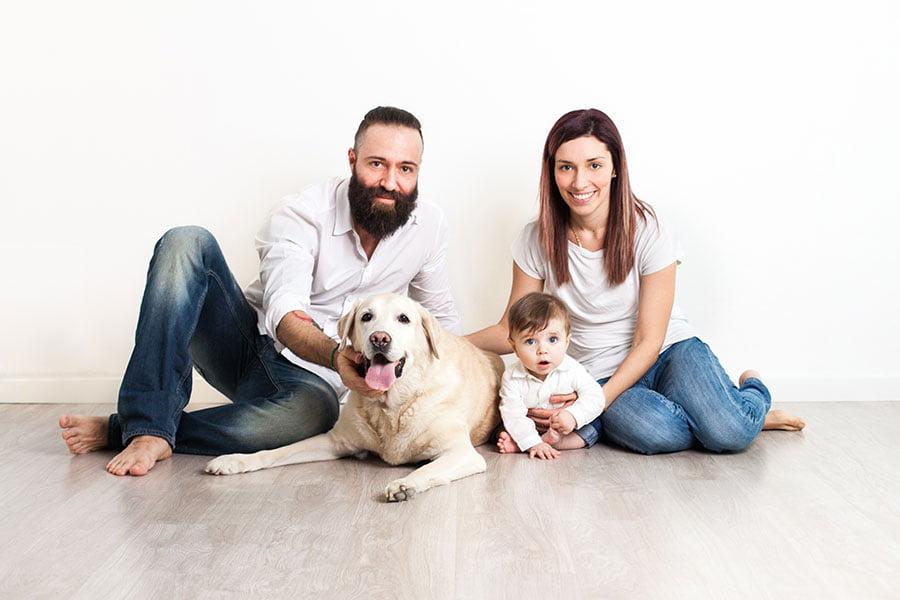 Servizio fotografico di famiglia in studio a Settimo Milanese